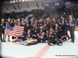 IIHF U18 World Championship 2017 Finale USA - FIN U18 World Champion Team USA ZS Poprad, Slovakia ©Puckfans.at/Andreas Robanser