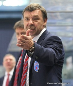 Head Coach  Oleg Znarok SKA  St.Petersburg KHL Season 2016-17 ©Puckfans.at/Andreas Robanser