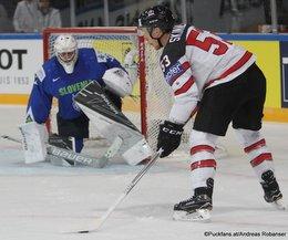 IIHF World Championship 2017 SLO - CAN Gasper Kroselj #32, Jeff Skinner #53 Paris, Bercy ©Puckfans.at/Andreas Robanser