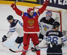IIHF World Championship 2017 Bronze Medal Game RUS - FIN Joonas Korpisalo #70, Sergei Andronov #11, Topi Jaakola #6 Köln, Lanxess Arena ©Puckfans.at/Andreas Robanser