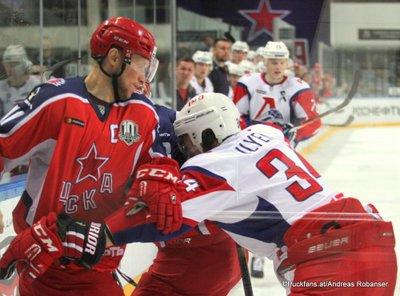 CSKA Moskau - Lokomotive Jaroslavl Alexander Sudnitsin #60, Valeri Nichushkin #43 Eispalast des Sports CSKA ©Puckfans.at/Andreas Robanser