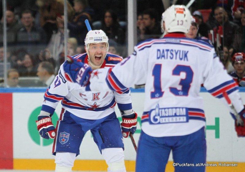 CSKA Moskau - SKA St.Petersburg Ilya Kovalchuk , Pavel Datsyuk Eispalast des Sports CSKA ©Puckfans.at/Andreas Robanser