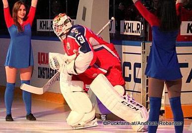 Lars Johansson #31, CSKA Moskau KHL Season 2017-18 © Puckfans.at / Andreas Robanser