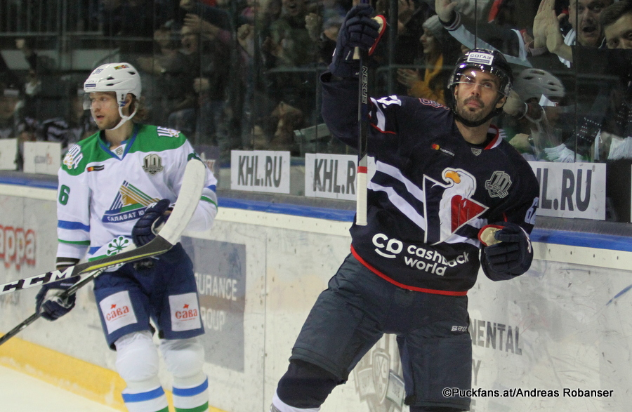 Slovan Bratislava - Salavat Yulaev Ondrej Nepela Arena Philip Larsen #36, Michal Repik #62 ©Puckfans.at/Andreas Robanser