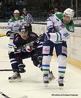Slovan Bratislava - Salavat Yulaev Ondrej Nepela Arena Ilya Zubov #38, Andrej Stastny #59 ©Puckfans.at/Andreas Robanser