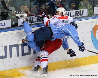 HC Slovan Bratislava - Avtomobilist Yekaterinburg Andrej Stastny #59, Alexei Mikhnov #8 Ondrej Nepela Arena ©Puckfans.at/Andreas Robanser