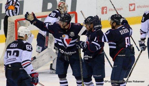 HC Slovan Bratislava - Metallurg Magnitogorsk Zach Boychuk #11, Juraj Mikus #71, slo-08 #8, Ilya Samsonov  #30. Oskar Osala #62 Ondrej Nepela Arena ©Puckfans.at/Andreas Robanser
