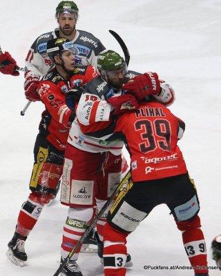 Qualifikationsrunde:  HC Orli Znojmo - HC Bozen Radim Matus #53, Tomas Plihal  #39 Nevoga Arena Zimní Stadion, Znojmo ©Puckfans.at/Andreas Robanser