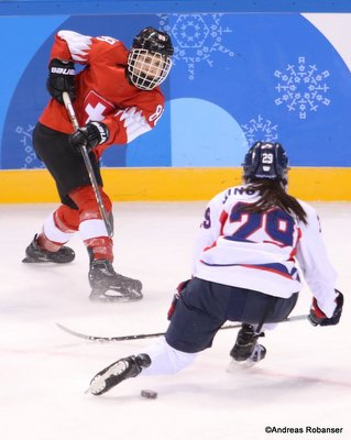 Olympic Winter Games Pyeongchang 2018 Women: SUI - COR Phoebe Staenz #88 Kwandong Hockey Centre ©Andreas Robanser