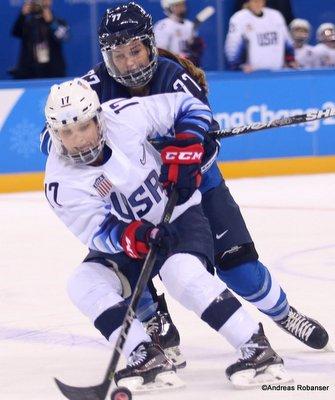 Olympic Winter Games Pyeongchang 2018 Women: FIN - USA Jocelyne Lamoureux #17 Kwandong Hockey Centre ©Andreas Robanser