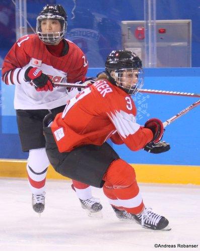 Olympic Winter Games Pyeongchang 2018 Women: SUI - JPN Sarah Forster #3, Kwandong Hockey Centre ©Andreas Robanser