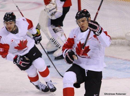 Olympic Winter Games Pyeongchang 2018 Men: SUI - CAN Gilbert Brulé #7, René Bourque #17 Kwandong Hockey Centre ©Andreas Robanser