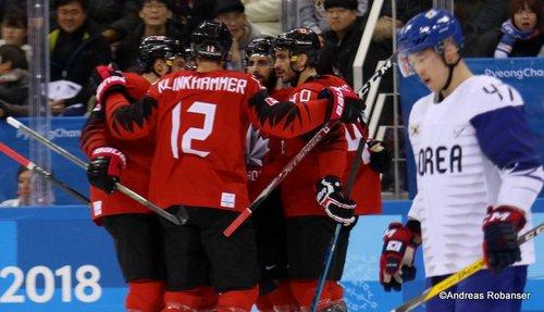 Olympic Winter Games Pyeongchang 2018 Men's: CAN - COR Rob Klinkhammer #12, Maxim Lapierre #40, Sang Hoon Shin #47 Gangneung Hockey Centre ©Andreas Robanser