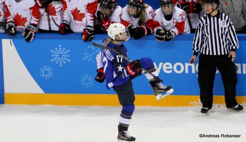 Olympic Winter Games Pyeongchang 2018 Women's Gold Medal Game Jocelyne Lamoureux #17 Gangneung Hockey Centre ©Andreas Robanser