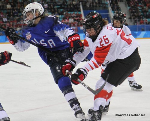Olympic Winter Games Pyeongchang 2018 Women's Gold Medal Game Jocelyne Lamoureux #17, Emily Clark #26 Gangneung Hockey Centre ©Andreas Robanser