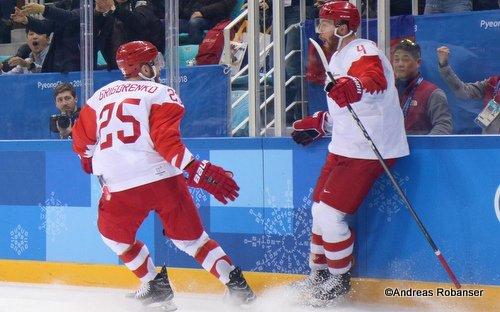 Olympic Winter Games Pyeongchang 2018 Men's Play-offs Semifinals CZE - OA RUS Mikhail Grigorenko #25, Vladislav Gavrikov  #4 Gangneung Hockey Centre ©Andreas Robanser