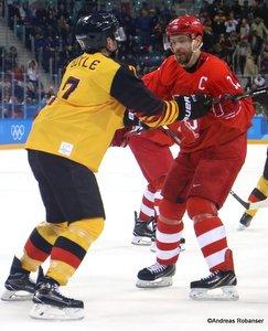 Olympic Winter Games Pyeongchang 2018 Men's Gold Medal Game OA RUS - GER Daryl Boyle #7, Pavel Datsyuk #13 Gangneung Hockey Centre ©Andreas Robanser