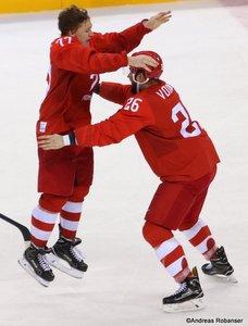 Olympic Winter Games Pyeongchang 2018 Men's Gold Medal Game OA RUS - GER Vyacheslav Voynov #26, Kirill Kaprizov #77 Gangneung Hockey Centre ©Andreas Robanser