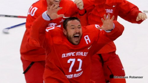 Olympic Winter Games Pyeongchang 2018 Men's Gold Medal Game OA RUS - GER Ilya Kovalchuk #71 Gangneung Hockey Centre ©Andreas Robanser