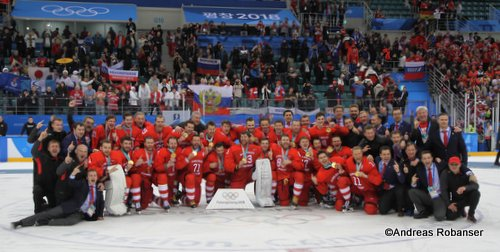 Olympic Winter Games Pyeongchang 2018 Men's Gold Medal Game OA RUS - GER Olympic Champion 2018 Team OA Russia  Gangneung Hockey Centre ©Andreas Robanser
