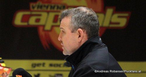 Vienna Capitals Head Coach Serge Aubin EBEL Season 2017 - 2018  ©Puckfans.at/Andreas Robanser