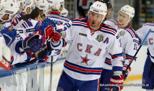 Ilya Kovalchuk #17, SKA St.Petersburg Jubel KHL Season 2017 - 2018 ©Puckfans.at/Andreas Robanser