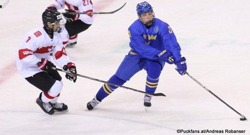 IIHF U18 World Championship SWE - SUI Stéphane Patry #7, Jonatan Berggren #17 Arena Magnitogorsk ©Puckfans.at/Andreas Robanser