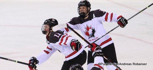 IIHF U18 World Championship SWE - CAN Alexis Lafrenière #11, Ty Dellandrea #18, Ryan Merkley #7 Arena Metallurg, Magnitogorsk  ©Puckfans.at/Andreas Robanser