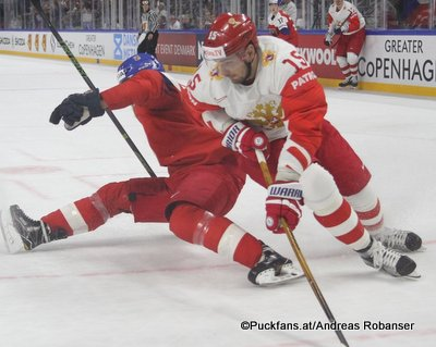 IIHF World Championship CZE - RUS Adam Polasek #61, Artyom Anisimov #15 Royal Arena, Copenhagen ©hockeyfans.ch/Andreas Robanser