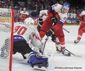 IIHF World Championship  CZE - AUT David Kickert #30, Dmitrij Jaskin #23 Royal Arena, Copenhagen ©Puckfans.at/Andreas Robanser