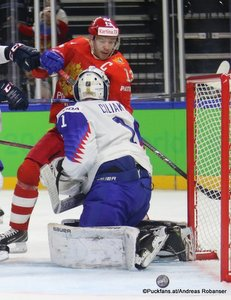 IIHF World Championship  RUS - SVK Pavel Datsyuk  #13, Marek Ciliak #1 Royal Arena, Copenhagen ©Puckfans.at/Andreas Robanser