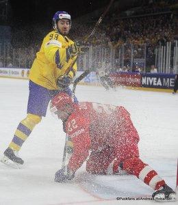IIHF World Championship RUS - SWE Mika Zibanejad #93, Nikita Zaitsev #22 Royal Arena, Copenhagen ©Puckfans.at/Andreas Robanser