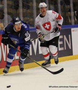 IIHF World Championship  QF: FIN - SUI Mikko Rantanen #96, Gaëtan Haas #92  Jyske Bank Boxen, Herning ©Puckfans.at/Andreas Robanser