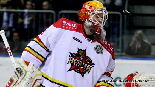 Magnus Hellberg, Kunlun Red Star KHL Season 2017 - 2018 ©Puckfans.at/Andreas Robanser