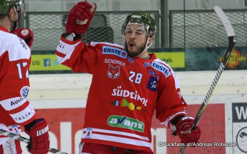 Chris DeSousa #28, HCB Foxes EBEL Season 2017-2018 ©Puckfans.at/Andreas Robanser