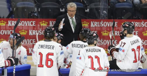IIHF World Championship 2018 Team Austria, Head Coach Roger Bader  Royal Arena, Copenhagen ©Puckfans.at/Andreas Robanser