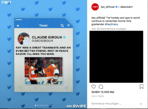 Claude Giroux' Tweet