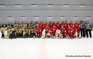 KHL Pre-Game Spartak Moskau - WEV Lions Sportareal Leithana ©Puckfans.at/Andreas Robanser