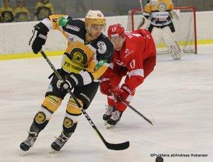 KHL Pre-Game Spartak Moskau - WEV Lions Patrick Stempfle #4, Artyom Voronin #17 Sportareal Leithana ©Puckfans.at/Andreas Robanser