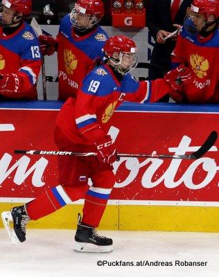 Hlinka Gretzky Cup 2018  Vasili Podkolzin #19 Rogers Place, Edmonton ©Puckfans.at/Andreas Robanser