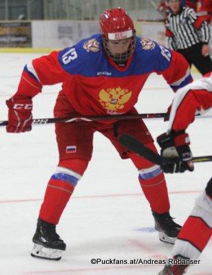 Oleg Zaitsev #13 Hlinka Gretzky Cup 2018,Pre-Game SUI - RUS ©Puckfans.at/Andreas Robanser