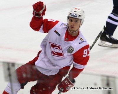 Spartak Moskau Season 2017-18 Alexander Khokhlachev #93 ©Puckfans.at/Andreas Robanser