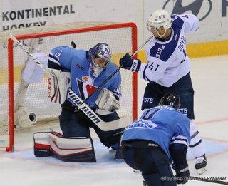 HC Slovan Bratislava - Dynamo Moskau Jakub Stepanek #30, Dustin Boyd  #41 ©Puckfans.at/Andreas Robanser