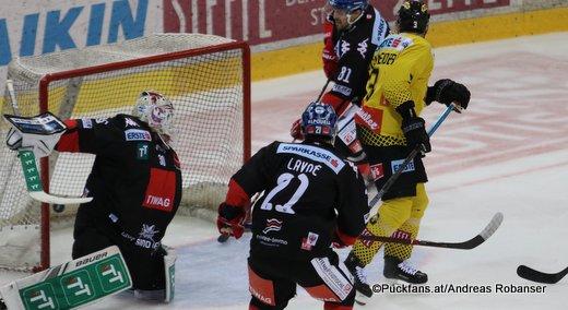 Vienna Capitals - HC Innsbruck René Swette #30, Alex Lavoie #21 ©Puckfans.at/Andreas Robanser