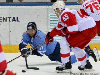 HC Slovan Bratislava - Spartak Moskau Chad Rau #17, Andrei Kuteikin #45 ©Puckfans.at/Andreas Robanser