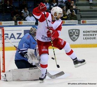 HC Slovan Bratislava - Spartak Moskau Marek Ciliak #1, Gleb Shashkov #76 ©Puckfans.at/Andreas Robanser
