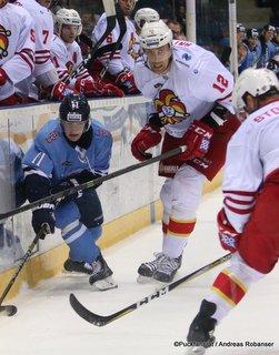 HC Slovan Bratislava - Jokerit Helsinki Patrik Virta #11, Marko Anttila #12 ©Puckfans.at/Andreas Robanser