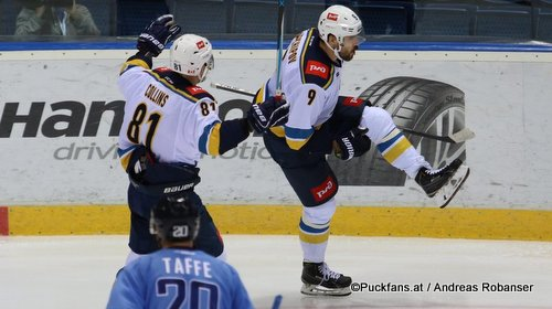 HC Slovan Bratislava - HC Sochi Jeff Taffe #20, Sean Collins  #81, Dmitri Arkhipov #9 ©Puckfans.at/Andreas Robanser