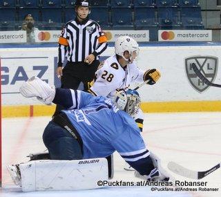 HC Slovan Bratislava - Severstal Cherepovets Marek Ciliak #1, Daniil Vovchenko #28 ©Puckfans.at/Andreas Robanser
