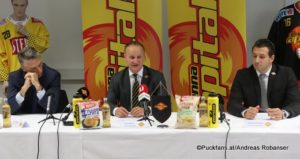 Vienna Capitals Press Conference Dave Cameron, Franz Kalla, Christian Dolezal ©Puckfans.at/Andreas Robanser